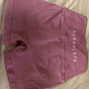 Alphalete Mauve Pink OG high waist revivals